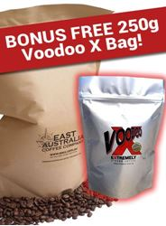 Picture of EACC Australian Coffee - 1KG Bag with bonus 250g Voodoo X bag