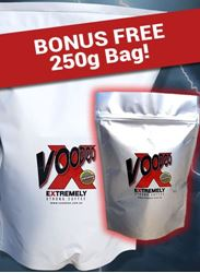Picture of VOODOO X 1KG Bag Coffee Beans with bonus 250g bag of Voodoo X coffee